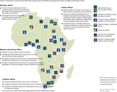 Examples of current and possible future impacts and vulnerabilities associated with climate variability and change in Africa