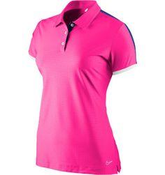 106d83dab8164 Nike Women s Embossed Dot Short Sleeve Polo Golf Shirts