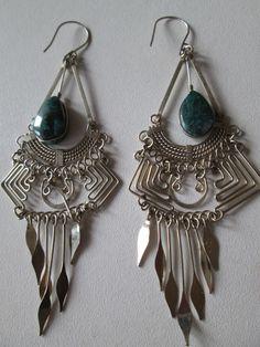 1 Paar Ohrringe aus Peru handgemacht  Nr.12 Folklore Folkloreschmuck Schmuck Ohr
