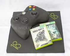 Birthday Cakes - X-box controller for an 18th Birthday, with personalised (edible) game.