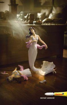 Fevikwik Instant Glue: Lady in White