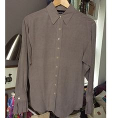 SALE Lord & Taylor 100% Silk Gray Shirt 4 TAGS ON This is brand new with tags on. Perfect for work or a night out! I ship same-day from smoke/pet-free home. Bundle 2 items for extra 15% off. ENJOY :) Lord & Taylor Tops Button Down Shirts