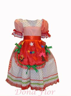 Vestido caipira | Dona Flor Estilo | Elo7