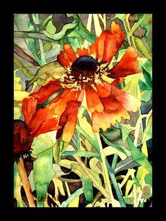 Disney Daisy. Watercolor flower print.