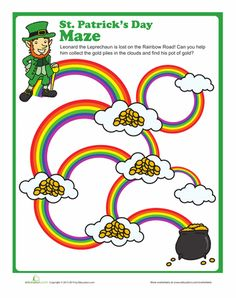 Learn and laugh along with your little leprechaun with these #StPatricksDay #worksheets! #kids
