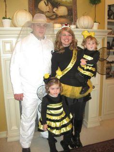 Beekeeper and Queen Bee costumes
