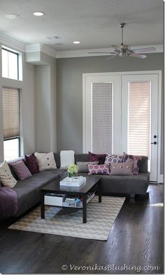 1000 images about ideas for the house on pinterest - Grey and purple living room walls ...