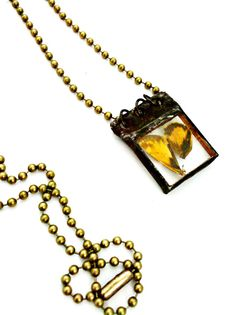 Moth Wings Necklace Butterfly Wing Jewelry Soldered by Mystarrrs, $26.00