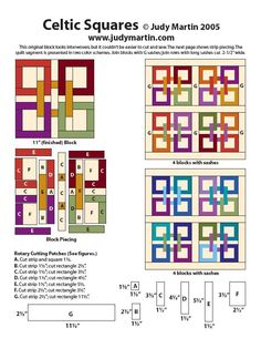 Directions for Celtic squares
