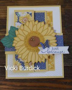 Fancy Fold Cards, Folded Cards, Sunflower Cards, Pumpkin Cards, Stampin Up Catalog, Scrapbook Cards, Scrapbooking, Stamping Up, Stampin Up Cards