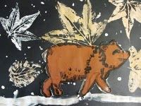 kevin henkes bear leaf print
