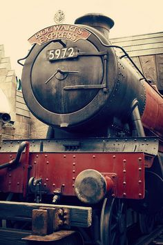 Harry Potter World. Hogwarts Express I think I would cry if I ever got to go.