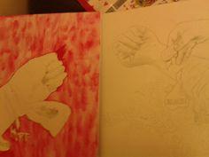 Self harm drawing