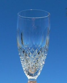 Set of 3 Waterford Crystal Colleen Short Stem Fluted Champagne Flutes Glasses #Waterford