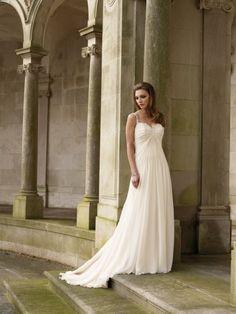 Comely Sweetheart Neackline Straps Chiffon Satin Beach Bridal Garments
