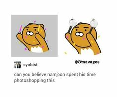 Awwww!Namjoon<<<It's cute but I'm not surprised at all