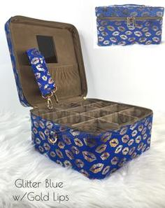 d1d12b3076 Makeup Train Case with 15 Colors Available from Dixie Pistol. They have a  lot of