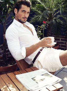 """Ask a Male Supermodel: 12 Questions (Over Coffee!) with David Gandy. If the name """"David Gandy"""" doesn't immediately register, we guarantee his face will. Gandy has been modeling for Dolce & Gabbana for nearly 10 years—they even put out a book together!—and he's also fronted campaigns for a slew of fashion brands, not to mention participating in the closing ceremony of the 2012 Olympics in London."""