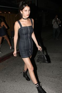 Bella Hadid leaving the Nice Guy Club in West Hollywood