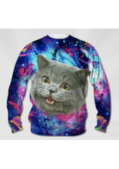 Galaxy cat sweatshirt- for V's birthday? olivia?