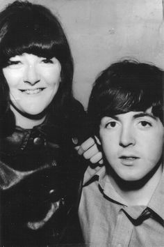 Freda Kelly (Beatles' Secretary & Friend) with Paul in 1962.