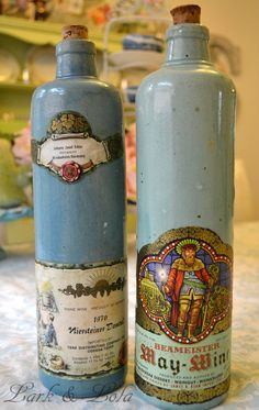 Vintage Pottery Wine Bottles