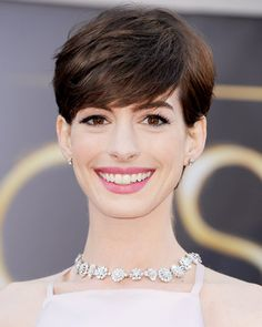 The Cutest Pixies, Crops and More Short Hairstyles - Anne Hathaway from #InStyle