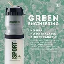 "Our Entire Family now only drink water from a Sports bottle made of organic Eco-friendly ""GREEN"" Vegetable Grade plastic so that it DOESN'T leak cancer causing chemicals into my body. http://www.nikken.com/EarthPatriot/shop/details/!pimag-sport-bottle"