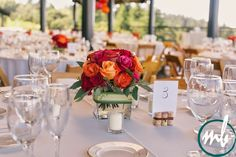 Thomas fogarty winery weddings with wine cork center pieces!  Melissa Babasin Photography | Thomas fogarty winery