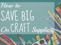 Crafting can be a lot fun but also pretty expensive. Even small supplies can add up quickly! Here are some fantastic ways to save BIG when shopping for craft supplies in store OR online! Make your creative budget go farther and use these frugal ideas to stretch that dollar! sunshineandhurricanes.com