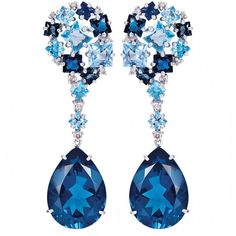 Topaz and diamonds earrings by Vianna
