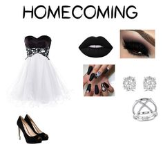 """homecoming part 2"" by lailaj234 ❤ liked on Polyvore featuring GUESS, Lime Crime, Effy Jewelry and Miadora"