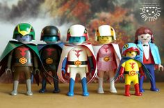 Battle of the Planets - G-FORCE, GATCHAMAN, Super-Science Ninja Team in Playmobil fashion!