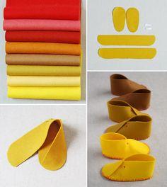 How to Make Felt Baby Shoes - Sew - Handimania