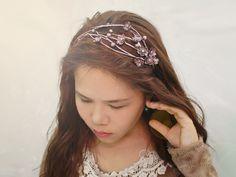 sakura silver wax headbandcherry blossom headband por Joyloveclay