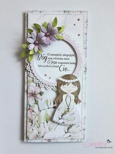 First Communion, Baby Cards, Cute Cards, Christening, Bonsai, Cardmaking, Scrapbooking, Invitations, Wreaths