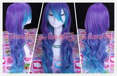 60cm VOCALOID3 LUKA long wavy Blue cos cosplay Party hair