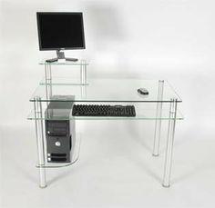Glass & Metal Computer Desk with Monitor Pedestal RTA Home and Office,http://www.amazon.com/dp/B004TN6LHU/ref=cm_sw_r_pi_dp_gcxmtb0VRWGVVT3T