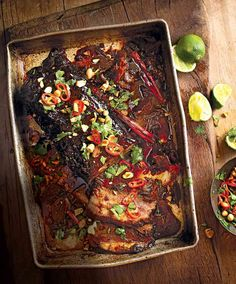 Try our slow-cooked beef brisket recipe made with a fresh ginger, chilli and chinese five spice sauce.