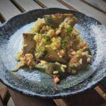 Arroz con alcachofas y jamón, por Patxi Gimeno, cocinero deportivo www.patxigimeno.com