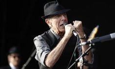 Leonard Cohen performing at the international Festival of Beincassim, Spain, in 2008.