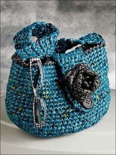 Plarn crochet bag #recycle