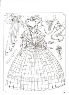 Brides Paper Dolls: 1860 by Charles Ventura (24 of 24)
