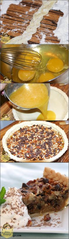 Double Chocolate Pecan Pie - A Southern staple with the addition of glorious chocolate!  Step-by-step photos!  <3