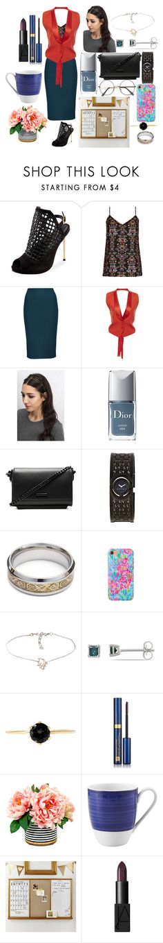 """""""Untitled #343"""" by yasm-ina ❤ liked on Polyvore featuring Carrano, City Chic, Givenchy, Rare London, Christian Dior, Kendall + Kylie, Gucci, Lilly Pulitzer, Ice and Estée Lauder"""
