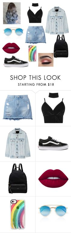 """""""Untitled #230"""" by blancaxrodriguez on Polyvore featuring Steve J & Yoni P, Boohoo, Alexander Wang, Vans, Radley, Lime Crime, Casetify and Ray-Ban"""