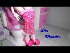 Como fazer banheiro toilet vaso sanitário para casa de bonecas - miniatura faça você mesmo - YouTube