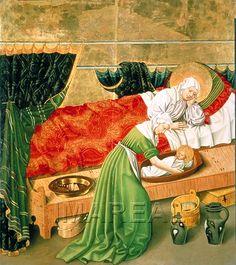 Ha nacido La Inmaculada Concepción,Santa ANA contempla su niña, la futura Madre de JESUS