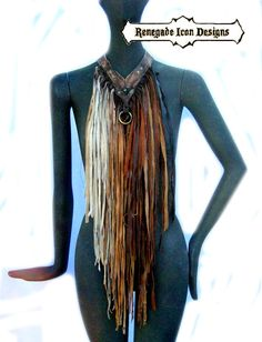 Hey, I found this really awesome Etsy listing at https://www.etsy.com/listing/194691278/extravagant-leather-fringe-necklace