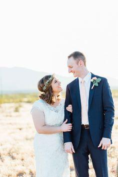 Arizona wedding // Modest dress // Baby's breath // Shelby Lea Photography